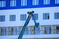 IJmuiden, the Netherlands -April 29th, 2017:   Aida Luna docked at Felison Cruise Terminal IJmuiden Royalty Free Stock Photography