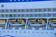 IJmuiden, the Netherlands -April 29th, 2017:   Aida Luna Safety vessels Royalty Free Stock Image