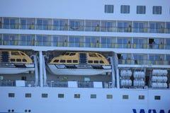 IJmuiden, the Netherlands -April 29th, 2017:   Aida Luna Safety vessels Stock Image