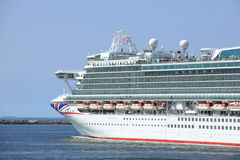 IJmuiden, the Netherlands -April 29th, 2017: Ventura P & O Cruises Royalty Free Stock Photo