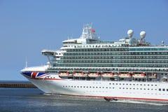 IJmuiden, the Netherlands -April 29th, 2017: Ventura P & O Cruises Royalty Free Stock Images