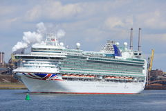 IJmuiden, the Netherlands -April 29th, 2017: Ventura P & O Cruises Stock Photography