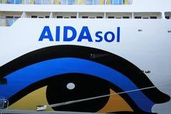 IJmuiden, The Netherlands - May 27, 2015: AIDAsol, detail Stock Photos