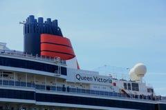 IJmuiden, Paesi Bassi - 5 giugno 2017: Regina Victoria, Cunard Immagini Stock