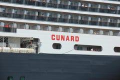 IJmuiden, Paesi Bassi - 5 giugno 2017: Regina Victoria, Cunard Fotografia Stock Libera da Diritti