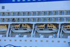 IJmuiden, Pays-Bas - 29 avril 2017 : Navires d'Aida Luna Safety Image libre de droits