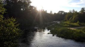 Ijora river Royalty Free Stock Photo