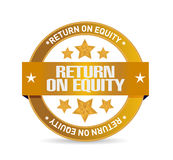 Ijreturn on equity seal sign concept Royalty Free Stock Photography