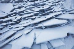Ijs-afwijking van het meer van Baikal Ijsijsschollen Royalty-vrije Stock Afbeelding