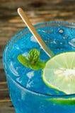 Ijs blauwe drank Royalty-vrije Stock Fotografie