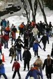 Ijs dat in Central Park schaatst Royalty-vrije Stock Fotografie