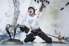 Ijs dat het Kampioenschap 2011 beklimt van de Wereld royalty-vrije stock fotografie