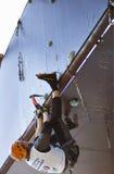 Ijs dat het Kampioenschap Busteni 2007 beklimt van de Wereld Stock Afbeelding