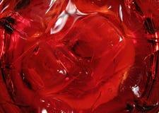 Ijs in een rode cocktail Stock Foto