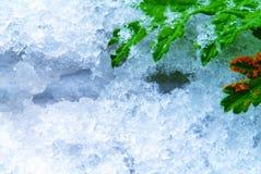 Ijs en sneeuw Stock Foto's