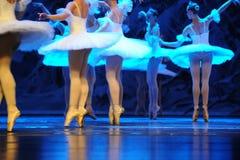 Ijs en sneeuwelf in de oppervlakte de bezinning-eerste handeling van het vierde Land van de gebiedssneeuw - de Balletnotekraker royalty-vrije stock afbeeldingen