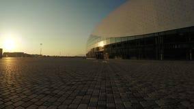 Ijs Groot Paleis in Olympisch Park stock footage