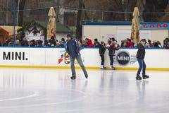 Ijs het schaatsen stock foto's