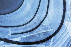 IJs, Ice. Luchtbellen onder ijs, Air bubbles under ice stock images