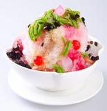 Ijs kacang, dessert van geschoren ijs met roomijs royalty-vrije stock fotografie