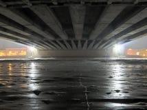 Ijs onder brug Stock Afbeelding