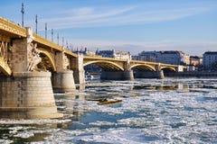Ijs op de Donau Stock Foto