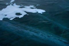 Ijs op de oppervlakte van Meer Baikal Royalty-vrije Stock Afbeeldingen