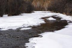 Ijs op de rivier Stock Afbeelding