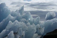 Ijs op Diamantstrand, IJsland Royalty-vrije Stock Foto's