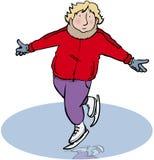 Ijs-schaatser vector illustratie