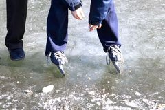 Ijs-schaatst Royalty-vrije Stock Afbeelding
