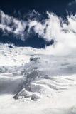 Ijs, sneeuw, hemel en bergen in Pamir Royalty-vrije Stock Fotografie