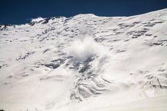 Ijs, sneeuw, hemel en bergen in Pamir Stock Fotografie
