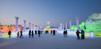 Ijs & sneeuwwereld Harbin China Royalty-vrije Stock Fotografie