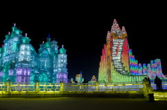 Ijs & sneeuwwereld Harbin China Stock Afbeeldingen