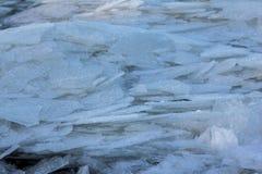 Ijs vele ijsschollen Stock Foto's