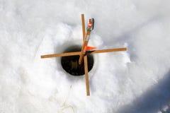 ijs visserij Stock Fotografie