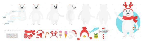 Ijsbeerkarakter voor animatie royalty-vrije illustratie