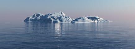 Ijsberg in de oceaan Royalty-vrije Stock Afbeeldingen