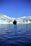 Ijsberg gelaagd met lava royalty-vrije stock foto's