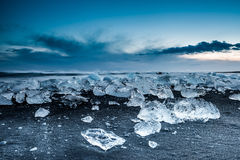 Ijsberg in ijslagune - Jokulsarlon, IJsland Stock Foto's