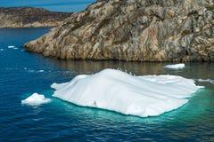 Ijsberg, Ilulissat-haven, Groenland stock foto