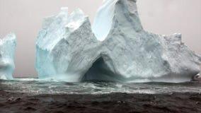 Ijsberg in oceaan van Antarctica stock video