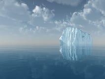 Ijsberg in open zee royalty-vrije illustratie