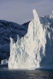Ijsberg in Scoresbysund in Groenland royalty-vrije stock fotografie