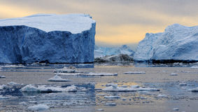 Ijsbergen in Groenland 1 stock foto's