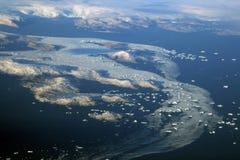 Ijsbergen in IJsland Stock Afbeeldingen
