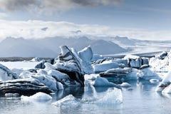 Ijsbergen in IJsland Stock Foto's