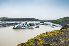 Ijsbergen in ijzige lagune Royalty-vrije Stock Afbeeldingen