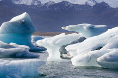 Ijsbergen - Jokulsarlon - IJsland Royalty-vrije Stock Fotografie